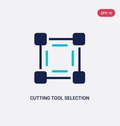 Two color cutting tool selection icon from art vector