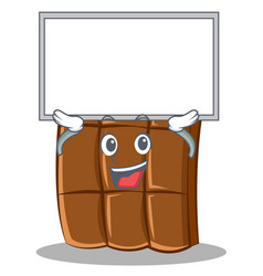 up board chocolate character cartoon style vector image