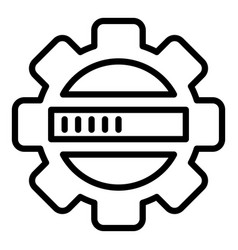 Update security process icon outline style vector