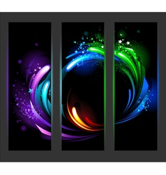 Vertical banner with abstract background vector