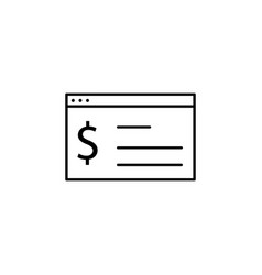 Web browser dollar icon element of finance signs vector