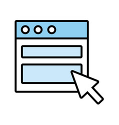 Webpage template line and fill style icon vector