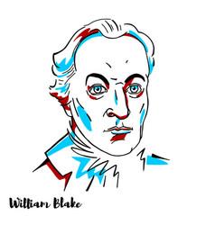 william blake portrait vector image