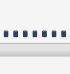 Windows airplane outside exterior plane in vector