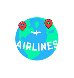 airlines like build a route vector image vector image