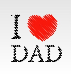 Card for Dad with scribbled effect vector image