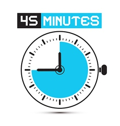 Forty Five Minutes Stop Watch - Clock vector image