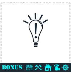 Idea icon flat vector image