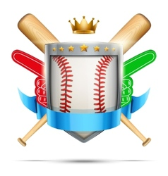 Label for baseball sport club or event Bright vector image vector image