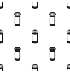 Prescription bottle icon in black style isolated vector image vector image