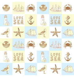 Seaside Elements Background vector image vector image