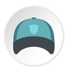 Winter hat icon circle vector