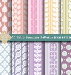 10 Retro Seamless Patterns vector image vector image