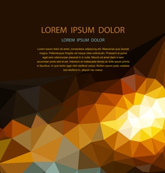 abstract background of triangles for business vector image