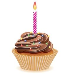 chocolate cupcake vector image