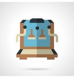 Color coffee machine shop flat icon vector image vector image