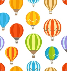Different colorful air balloons seamless pattern vector