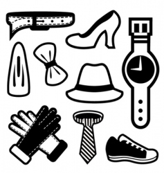 fashion icons vector image vector image
