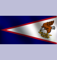 flag of american samoa - vector image vector image