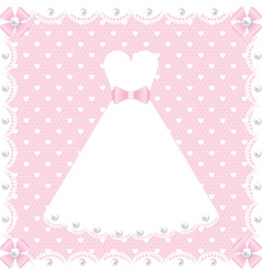 lace dress and pearls vector image