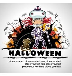 spooky halloween composition 3 vector image vector image