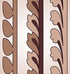 Vintage decorative set brown floral pattern vector image vector image