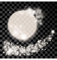 Abstract silver moon vector image