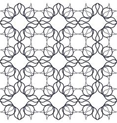 Art Nouveau Linear Pattern vector image