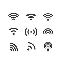 different wireless connection pictograms clip-art vector image vector image