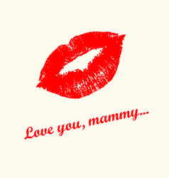 love you mummy vector image
