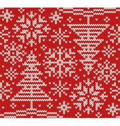New year knitted northern seamless pattern vector image