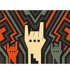 Rock hands vector