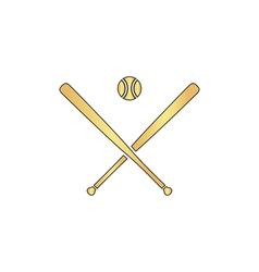 baseball computer symbol vector image