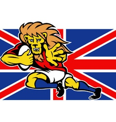 british lion rugby vector image