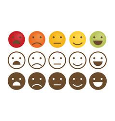 feedback emoticon set flat design vector image