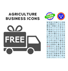 free delivery icon with agriculture set vector image vector image