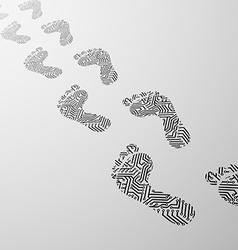 human foot Stock vector image vector image