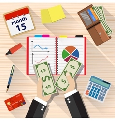 income concept flat design vector image vector image