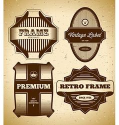 Set of big vintage labels vector image vector image