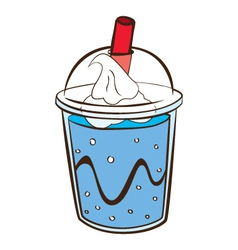 soft drink with float vector image
