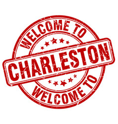 welcome to charleston vector image vector image