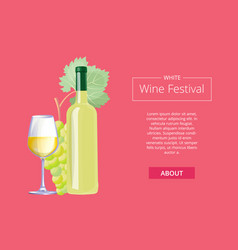 white wine festival on red vector image vector image
