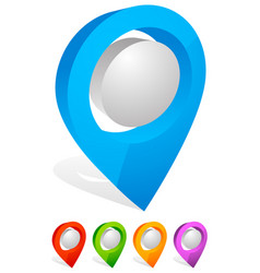 3d map pin map marker address location icon vector