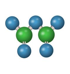 3d molecule of phosphorus pentoxide vector image