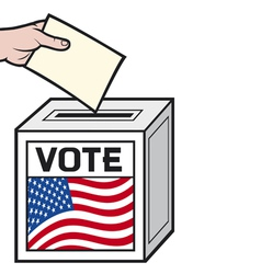 a ballot box with the flag vector image