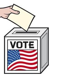 a ballot box with the flag vector image