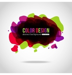 Abstract colorful background Splotch creative vector
