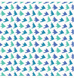 abstract fin scale shapes pretty aqua blue vector image