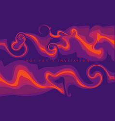 abstract hot liquid flame design element vector image