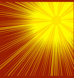 abstract sunny explosive comic background vector image